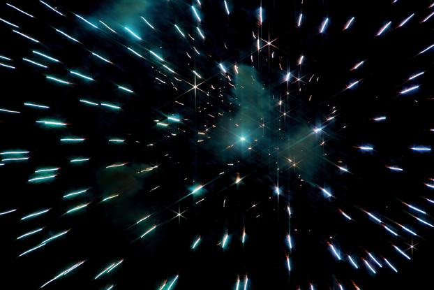 スノークロスの夜景と花火10