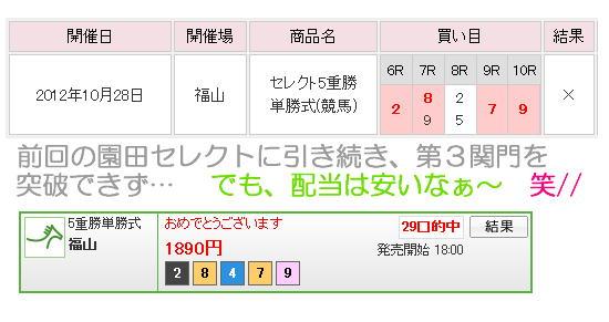 10-28福山セレクト結果