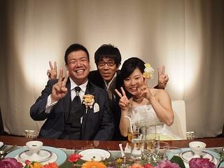 たっきー結婚式三人
