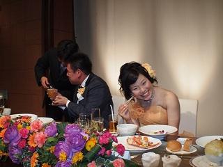 たっきー結婚式にっこり