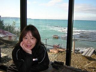 20070218南部の海をバックに直ちゃん