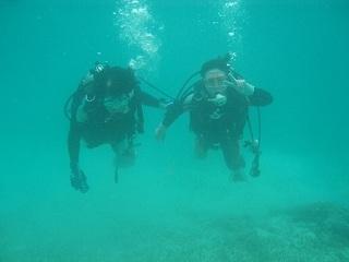 スポーツダイバー講習クリマビーチ