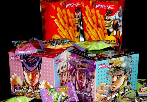 グリコ ジョジョの奇妙な冒険チョコレート&かるじゃが うましお味 ジョジョの奇妙な冒険パッケージ