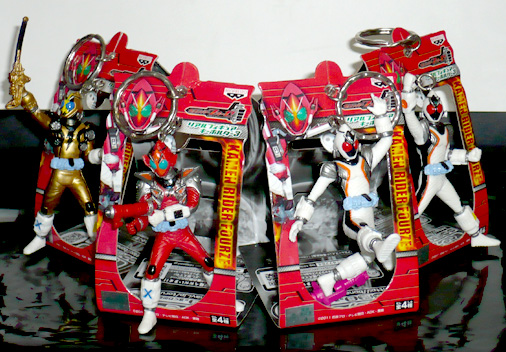 バンプレスト 仮面ライダーフォーゼ リアルフィギュアキーホルダー3