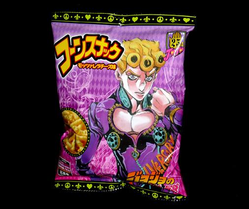 ジャパンフリトレー コーンスナック モッツァレラチーズ味 ジョジョの奇妙な冒険パッケージ