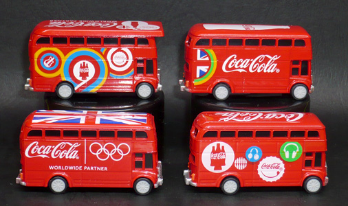 2012年ロンドンオリンピック コカ・コーラ HAPPY BUS プルバックカー