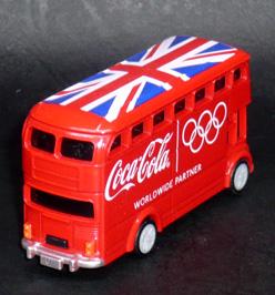 2012年ロンドンオリンピック コカ・コーラ HAPPY BUS プルバックカー デザインA