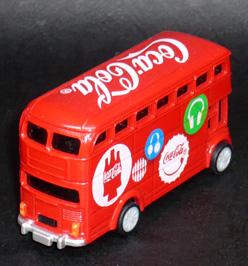 2012年ロンドンオリンピック コカ・コーラ HAPPY BUS プルバックカー デザインC