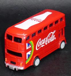 2012年ロンドンオリンピック コカ・コーラ HAPPY BUS プルバックカー デザインD