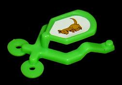 コリス フエラムネのおまけ 跳ねるおもちゃ カンガルー(緑)