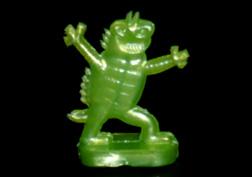 コリス フエラムネのおまけ 万歳怪獣(メタリック緑)