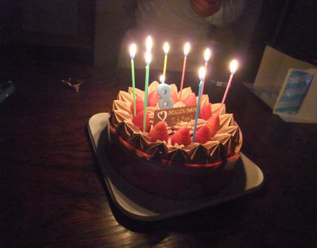 八歳、おめでとう!!