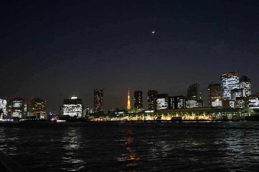 東京タワーと築地市場