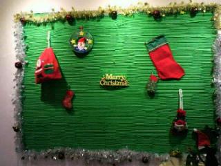 クリスマスディスプレイ壁