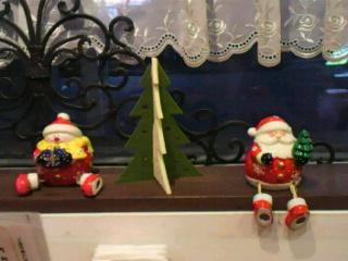 クリスマスディスプレイ窓