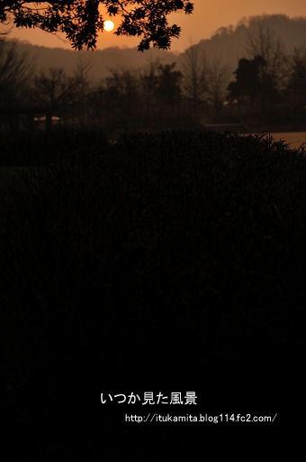 朝陽も霞む
