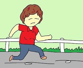 走る母ちゃん
