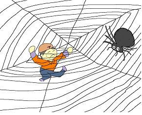 クモの巣へ