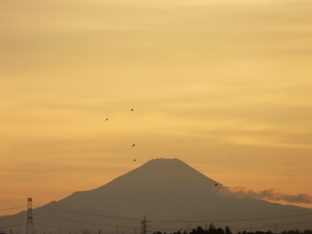 富士山の夕景 2