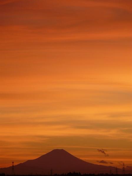 富士山の夕景 3