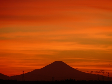 富士山の夕景 4