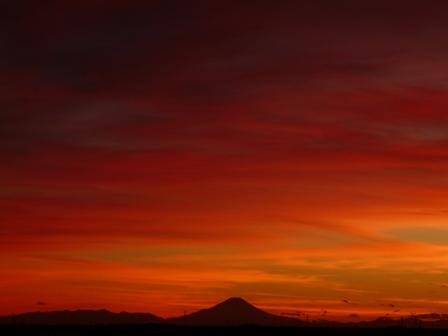 富士山の夕景 5