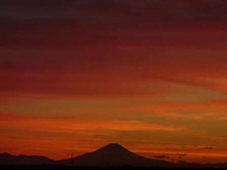 富士山の夕景 6