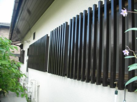 面格子(付帯塗装)