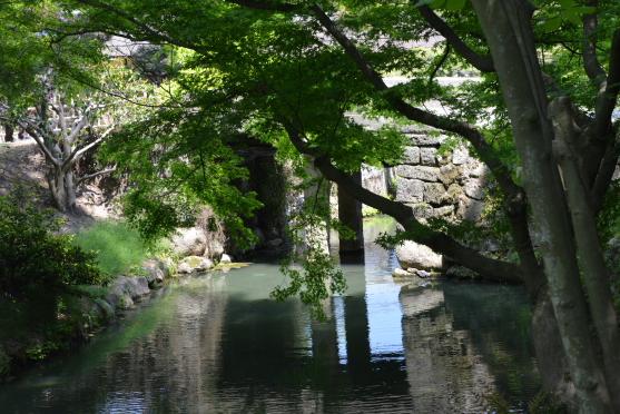 緑陰の石橋