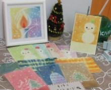 虹色パステルアート-チャリティーポストカード