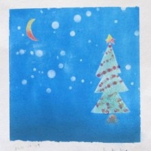 虹色パステルアート-Hちゃんクリスマスツリー
