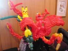 虹色パステルアート-鳳凰とドラゴンなど
