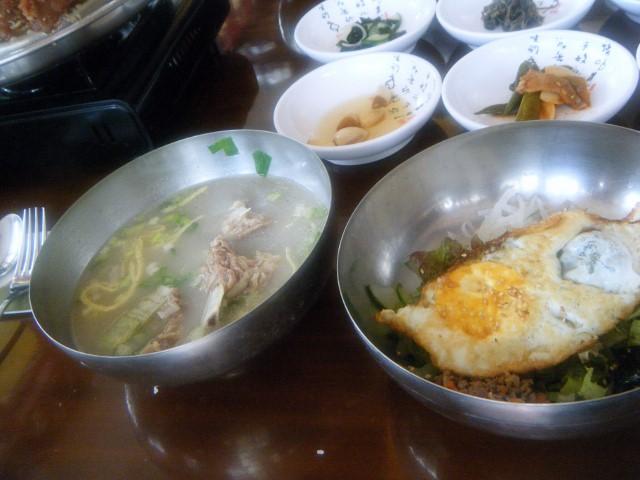 スープとビビンバ