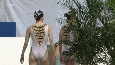 金メダル級にエロい競泳水着