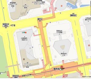 西新宿地下道マップ