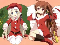 43yande.re 250032 christmas imoto_yuki little_busters! natsume_rin noumi_kudryavka pantyhose tagme