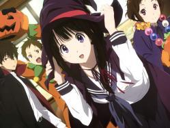 43yande.re 250031 chitanda_eru fukube_satoshi halloween hyouka ibara_mayaka nishiya_futoshi oreki_houtarou seifuku tagme