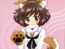 43yande.re 252587 akiyama_yukari animal_ears girls_und_panzer seifuku tail yamaguchi_asuka
