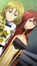 yande.re 243584 armor cleavage maou_(maoyuu_maou_yuusha) maoyuu_maou_yuusha onna_kishi sword usuda_yoshio yuusha