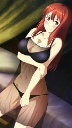 yande.re 240239 bra breast_hold cleavage lingerie maou_(char) maoyuu_maou_yuusha pantsu see_through tagme