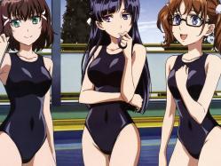43yande.re 253274 kakumeiki_valvre megane nagatomi_kouji nanami_rion rukino_saki sakurai_aina sashinami_shouko school_swimsuit swimsuits