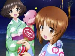 43262961 akiyama_yukari girls_und_panzer nishizumi_miho yukata