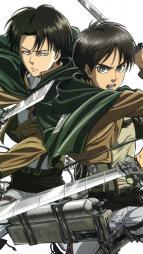 5263967 eren_jaeger levi_(shingeki_no_kyojin) male shingeki_no_kyojin sword tomita_megumi