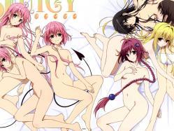 43265611 breast_hold golden_darkness kotegawa_yui kurosaki_mea momo_velia_deviluke naked nana_asta_deviluke pantsu tail to_love_ru topless yuuki_mikan