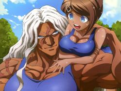 43266238 asahina_aoi cleavage dangan-ronpa oogami_sakura school_swimsuit swimsuits