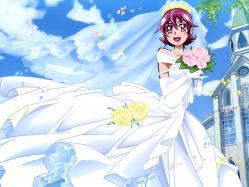 43263948 aida_ayumi dokidoki!_precure dress pretty_cure ueno_ken wedding_dress