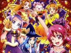 43268830 aida_mana animal_ears calendar dokidoki!_precure halloween hishikawa_rikka kenzaki_makoto madoka_aguri pretty_cure takahashi_akira witch yotsuba_alice