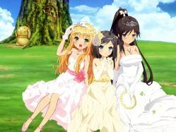 43268947 azuki_azusa dress hentai_ouji_to_warawanai_neko imoto_yuki tsutsukakushi_tsukiko tsutsukakushi_tsukushi wedding_dress