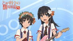169267116 guitar saten_ruiko tanaka_yuuichi thighhighs to_aru_kagaku_no_railgun to_aru_majutsu_no_index uiharu_kazari