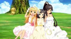 169268947 azuki_azusa dress hentai_ouji_to_warawanai_neko imoto_yuki tsutsukakushi_tsukiko tsutsukakushi_tsukushi wedding_dress